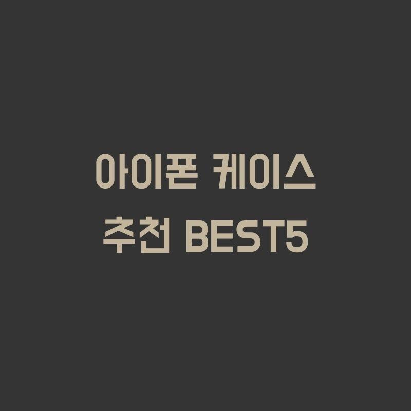 아이폰 케이스 추천 BEST5