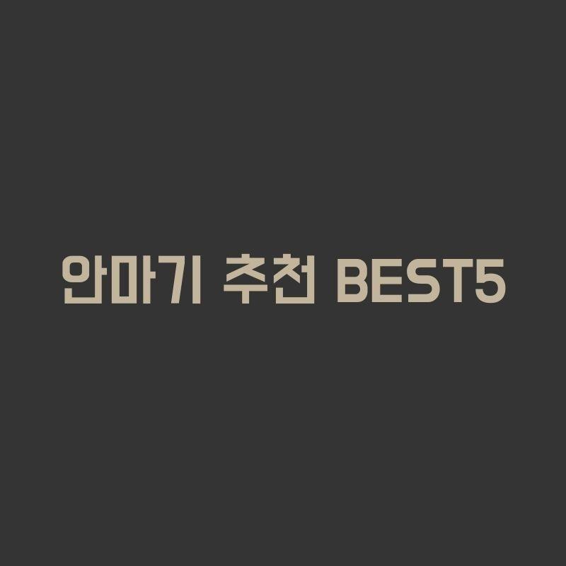안마기 추천 BEST5